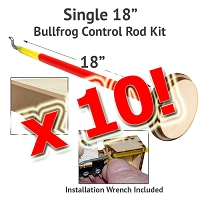 10 Pack Control Rod Kit for BullFrogs-18