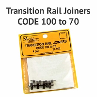 Transition Rail Joiners - Code 100 to 70