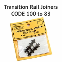 Transition Rail Joiners - Code 100 to 83