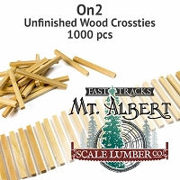 On2 Unfinished Wood Crossties - 1000 pcs