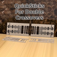 QuickSticks Laser Ties HO, #10 Double Crossovers - Drilled