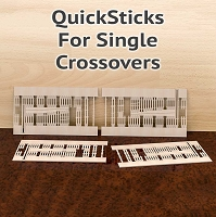 QuickSticks Laser Cut Ties For HO, #10 Single Crossovers