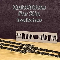 QuickSticks Laser Cut Ties For S, #4 Slip Switches - Drilled