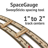 SpaceGage SweepSticks Spacing Gage for 1 to 2 Inch Track Centers
