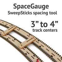 SpaceGage SweepSticks Spacing Gage for 3 to 4 Inch Track Centers