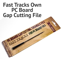 Fast Tracks Own PC Board Gap Cutting Triangle File