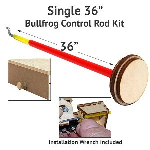 "Control Rod Kit - 36"" for BullFrogs"