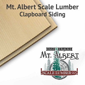 "4"" Boards S Scale Clapboard Siding Sheets, 4x24 inches long BULK"