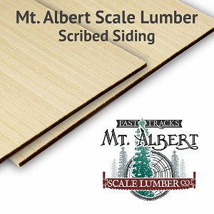 ".125"" Scribed Basswood Sheets, 4x12 inches long (2pcs)"