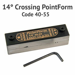 14° Crossing PointForm for Code 40 & 55 Rail