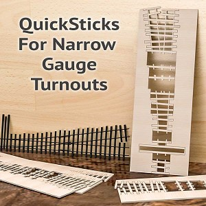 QuickSticks Laser Cut Ties For On3 #5 Turnouts