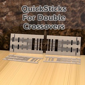 QuickSticks Laser Cut Ties For HO, #8-2.5C Double Crossovers